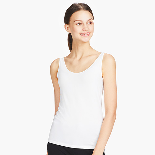 f2ba47b83b52bd Uniqlo Women's AIRism Sleeveless Top is a comfy innerwear worn under  outfits that provides a light, soft, and refreshing comfort on ...